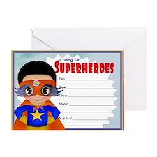 Super Hero Boy Greeting Card