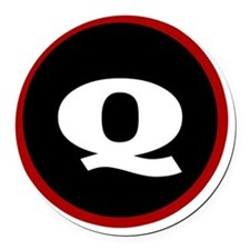 The Q Round Car Magnet
