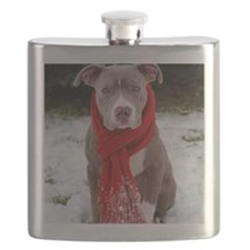 Holiday Pit Bull Flask