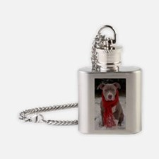 Holiday Pit Bull Flask Necklace