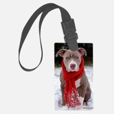 Holiday Pit Bull Luggage Tag