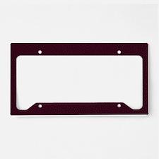 Pebble License Plate Holder