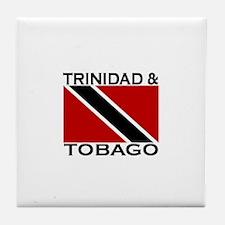 Trinidad & Tobago Flag Tile Coaster