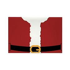 Santa Costume Red-01 Rectangle Magnet