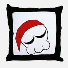 Immortal Zombie Girl Skull Logo (Slee Throw Pillow