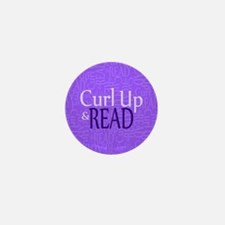 Curl Up and Read Purple Mini Button (100 pack)