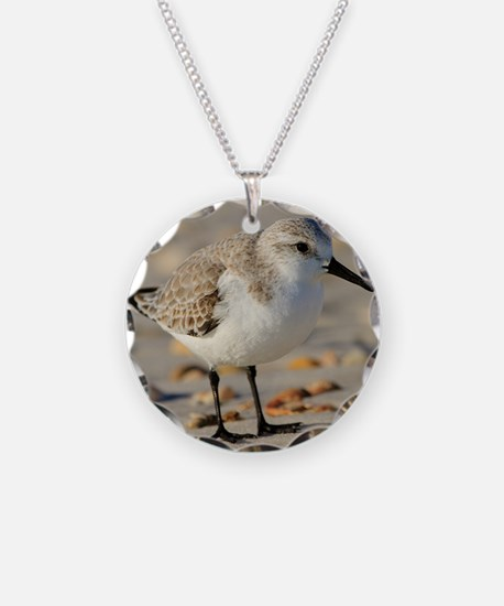 Sand Piper and Seashells Necklace