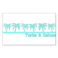 Turks & Caicos Rectangle Decal
