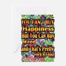 You Cant Buy Happiness Greeting Card