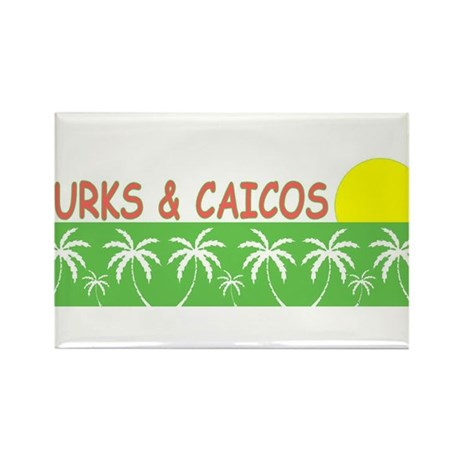 Turks & Caicos Rectangle Magnet (10 pack)