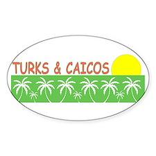 Turks & Caicos Oval Decal