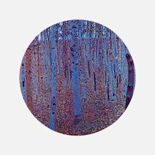 "Beech Forest by Gustav Klimt 3.5"" Button"