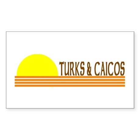 Turks & Caicos Rectangle Sticker