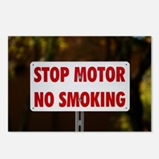 Stop Motor No Smoking Postcards (Package of 8)