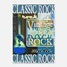 Classic Rock N Roll 5'x7'Area Rug
