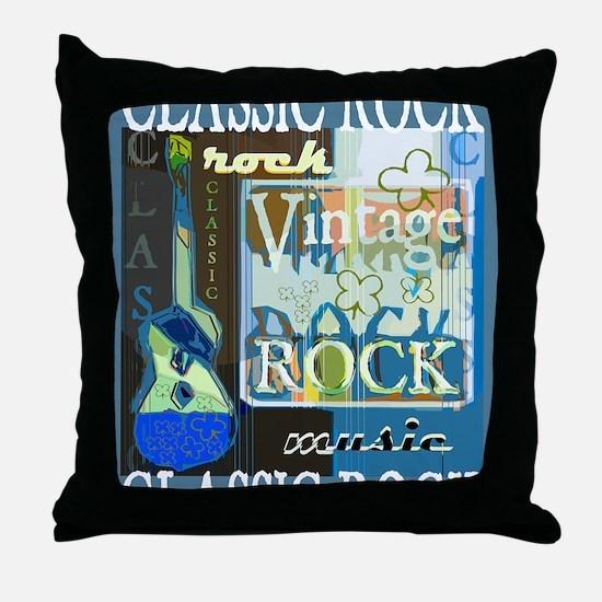 Classic Rock N Roll Throw Pillow