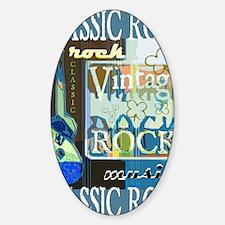 Classic Rock N Roll Sticker (Oval)