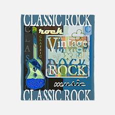 Classic Rock N Roll Throw Blanket