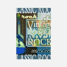 Classic Rock N Roll Rectangle Magnet
