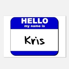 hello my name is kris  Postcards (Package of 8)