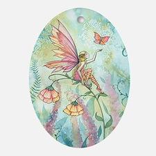 Free Fairy Fantasy Art Oval Ornament