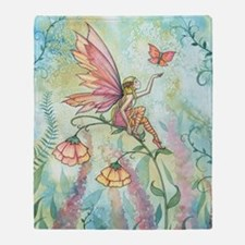 Free Fairy Fantasy Art Throw Blanket