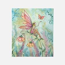 Free Fairy Fantasy Art Throw Blanket