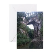 The Natural Bridge, Virginia  Greeting Card