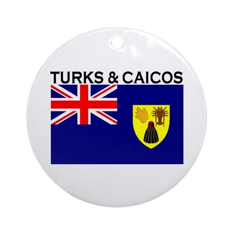 Turks & Caicos Flag Ornament (Round)