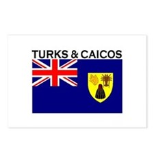 Turks & Caicos Flag Postcards (Package of 8)