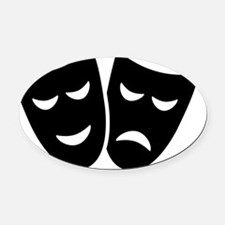 Drama Oval Car Magnet