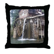 Dollywood Grist Mill Throw Pillow