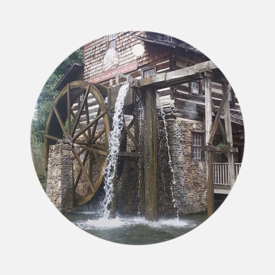 Dollywood Grist Mill Round Ornament