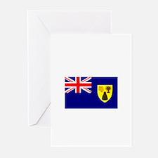 Turks & Caicos Flag Greeting Cards (Pk of 10)
