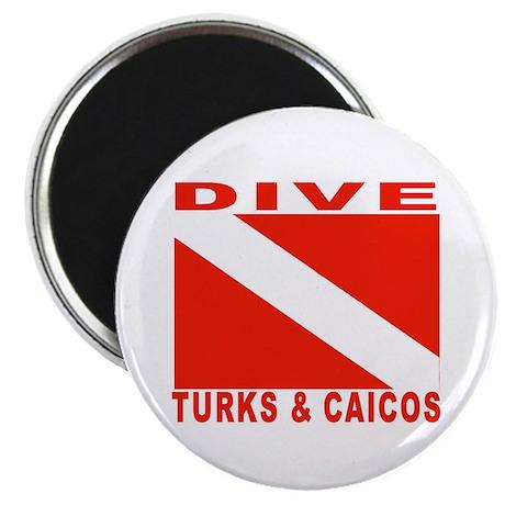 "Dive Turks & Caicos 2.25"" Magnet (10 pack)"