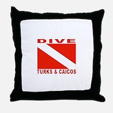 Dive Turks & Caicos Throw Pillow
