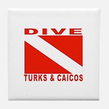 Dive Turks & Caicos Tile Coaster