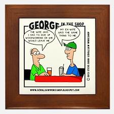 George in the Shop Framed Tile