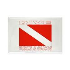 Dive Turks & Caicos Rectangle Magnet (100 pack)