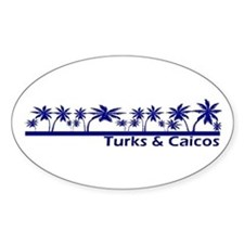 Turks & Caicos Oval Decal