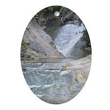 Natural Bridge Waterfalls, Virginia Oval Ornament