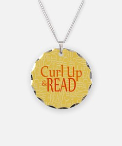 Curl Up and Read Yellow Necklace