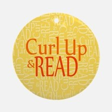 Curl Up and Read Yellow Ornament (Round)