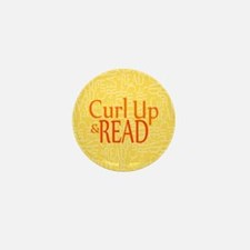 Curl Up and Read Yellow Mini Button (100 pack)