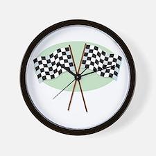Racing Flags Wall Clock