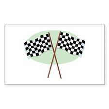 Racing Flags Rectangle Decal