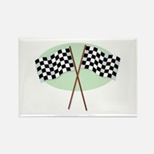 Racing Flags Rectangle Magnet