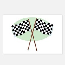Racing Flags Postcards (Package of 8)