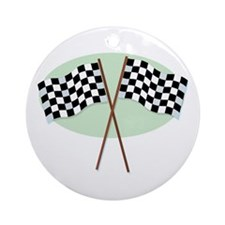 Racing Flags Ornament (Round)