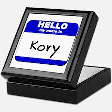 hello my name is kory Keepsake Box